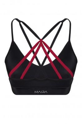 Aria ECONYL® Black Sport Bra & Bikini Top