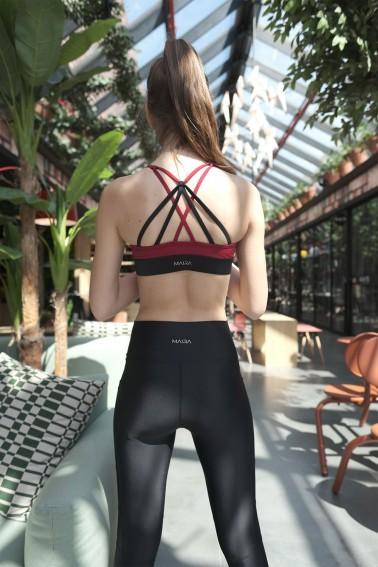 Aria ECONYL® Claret Red Sport Bra & Bikini Top