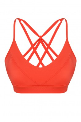Aria ECONYL® Orange Sport Bra & Bikini Top