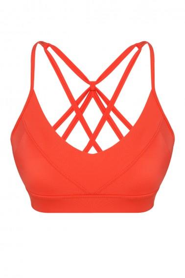 Aria ECONYL® Orange Sport Bra & Bikini Top