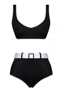 Ava Two-Tone ECONYL® Black Bikini