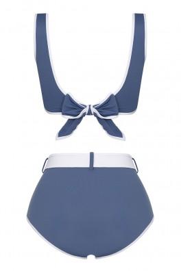 Ava Two-Tone ECONYL® Blue Bikini