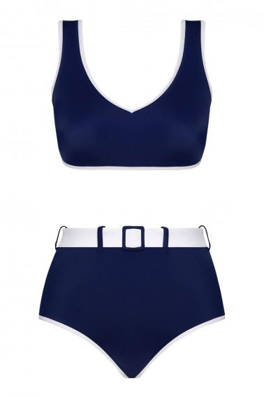 Ava Two-Tone ECONYL® Navy Bikini