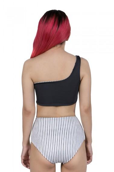 Calypso Black & White High Bikini Altı İki Taraflı