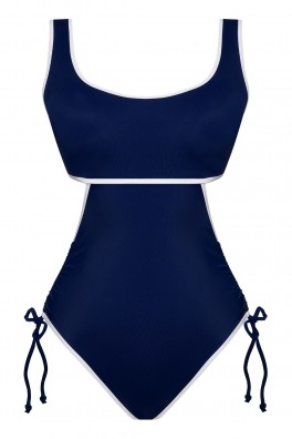 Arni Ruched Cutout ECONYL® Navy Swimsuit