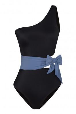 Naomi ECONYL® Black & Blue Swimsuit