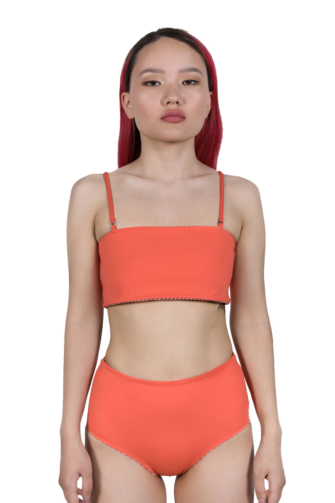 Poly Bandeau Clementina Bikini Üstü İki Taraflı